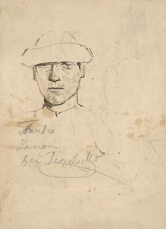 Ladislav Mednyánszky - Figurálny náčrt