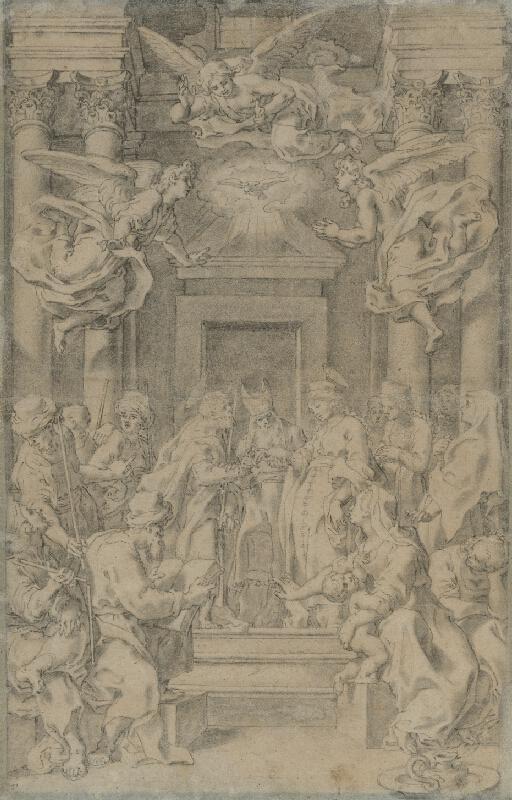 Taliansky maliar zo 17. storočia - Zasnúbenie Márie s Jozefom