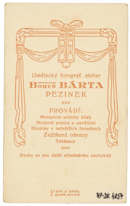 Bohuš Bárta – Portrét chlapca