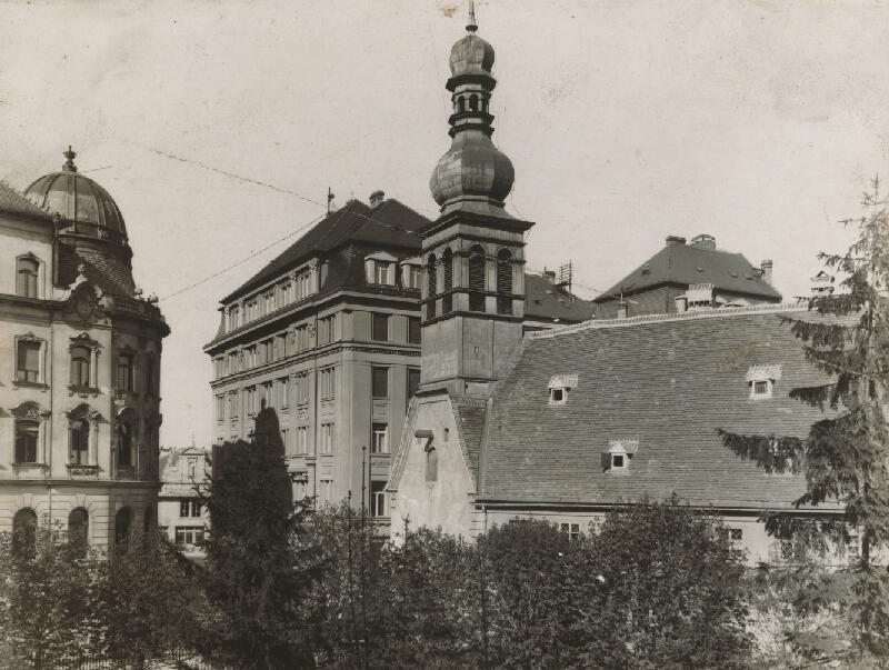 Milan Michal Harminc - Tatra banka v Bratislave. Bočný pohľad.
