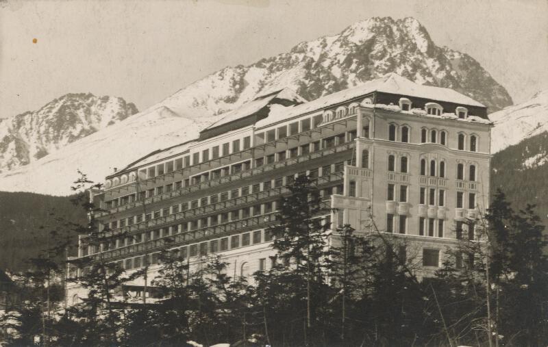 Milan Michal Harminc - Sanatórium Dr. Szontágha v Novom Smokovci. Celkový pohľad od juhovýchodu.