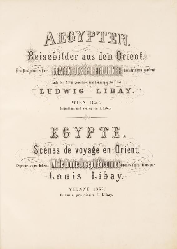 Karol Ľudovít Libay – Egypt. Obrazy s ciest po Oriente. Album litografií