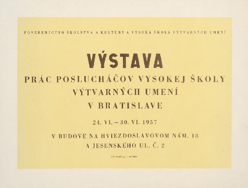 Slovenský autor - Výstava prác poslucháčov VŠVU