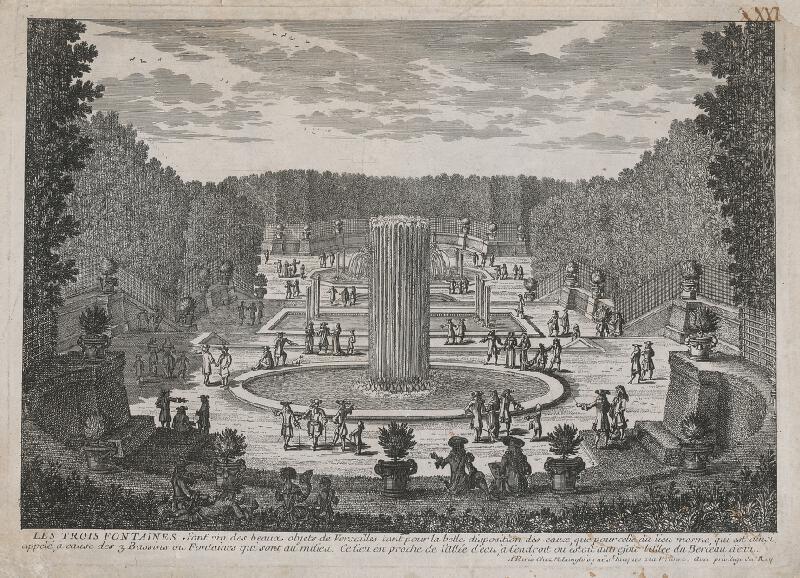 Gabriel Pérelle - Tri fontány vo Versailles
