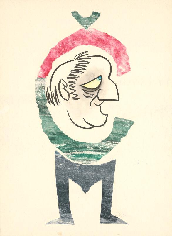 Alexander Richter - Karikatúra maliara Mariána Čunderlíka