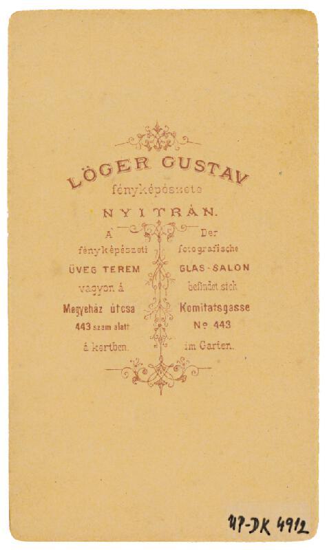 Gusztáv Löger – Portrét muža