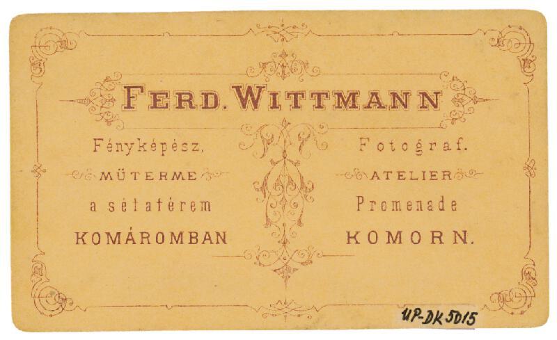 Nándor Wittmann - Portrét mladého muža