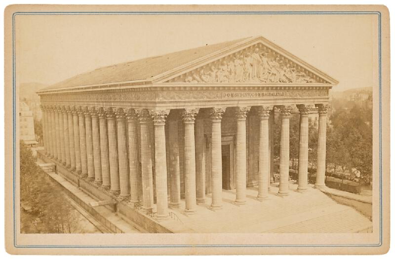 Neznámy autor – Paríž. Kostol sv. Magdalény (La Madeleine templom)