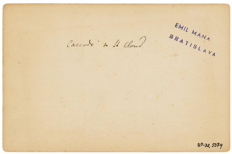 Neznámy autor - Paríž. Veľká kaskáda v parku zámku St. Cloud (Grande Cascade de St. Cloud)