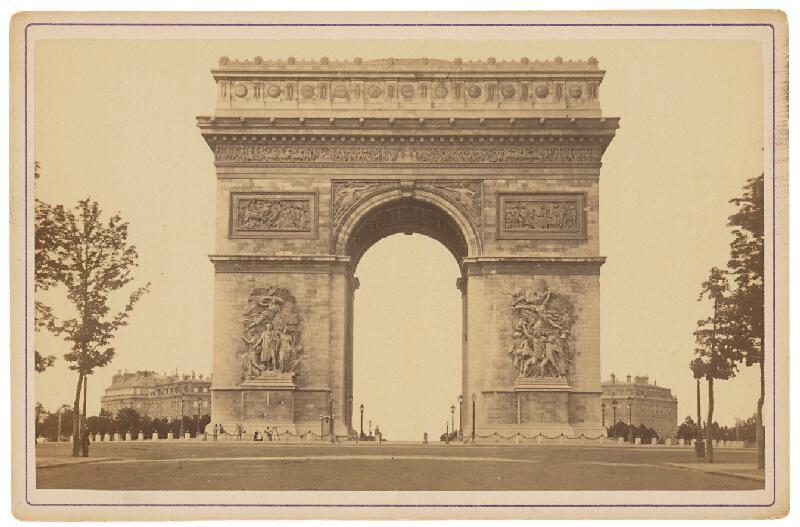 Ziegler & Cie. Éditeur - Paríž. Víťazný oblúk (Arc de Triomphe)