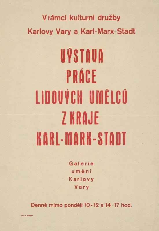 Český autor - Výstava prác ľudových umelcov z kraja Karl-Marx Stadt