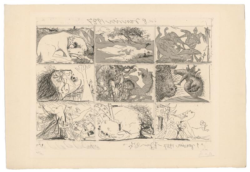 Pablo Picasso – Francov sen a lož, 1937, Slovenská národná galéria
