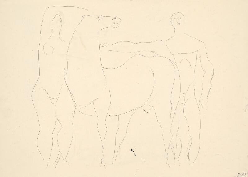 Július Szabó - Postavy s koňom