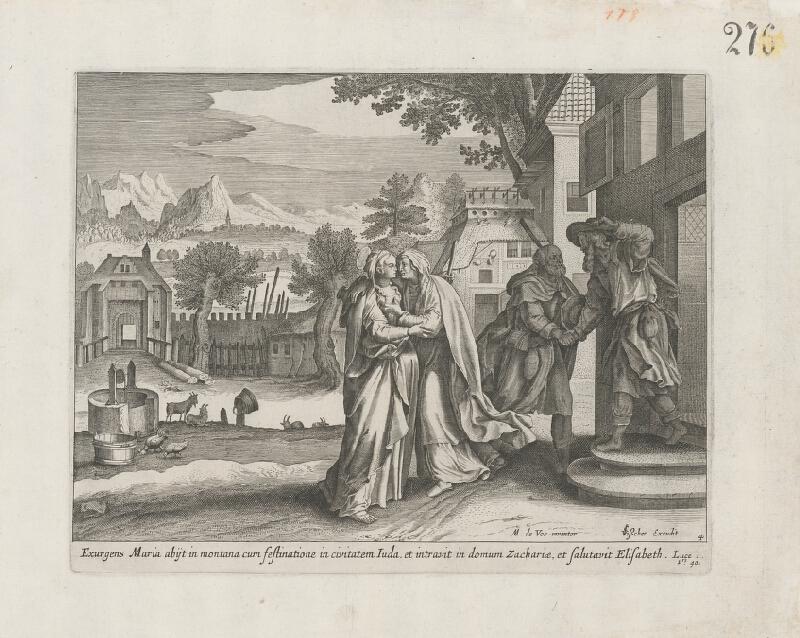 Claes Jansz. Visscher, Maarten de Vos st. - Navštívenie Panny Márie