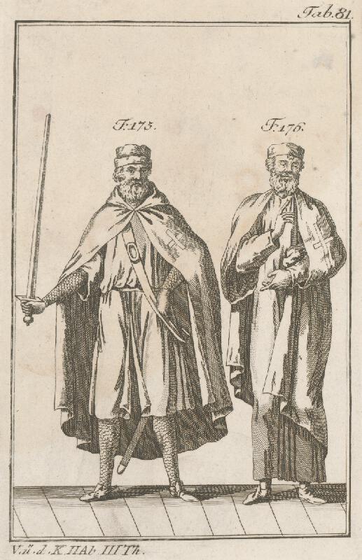 Západoeurópsky autor z 18. storočia - Rytier a učenec krížovej regule
