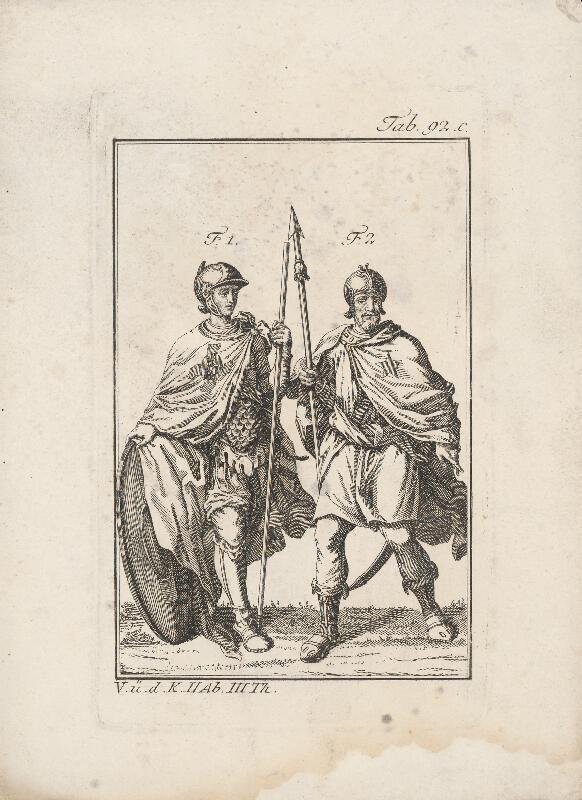 Západoeurópsky autor z 18. storočia - Dvojica rytierov -prvý s madonou,druhý s päťcípou hviezdou na plášti