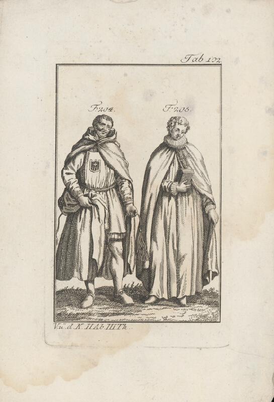 Západoeurópsky autor z 18. storočia - Rytier a mních krížovej reguly