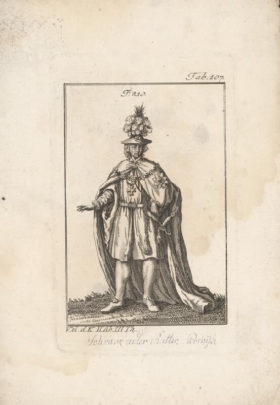 Západoeurópsky autor z 18. storočia - Šlachtic s odznakom čierneho orla
