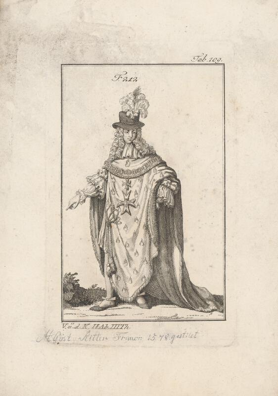 Západoeurópsky autor z 18. storočia - Šlachtic s dvoma maltézskymi krížmi a plamienkom