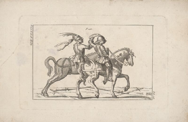 Západoeurópsky autor z 18. storočia - Turnajoví jazdci zápasiaci rukami
