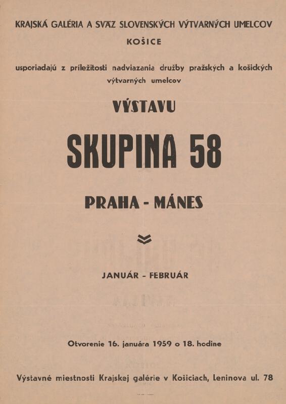 Slovenský autor - Výstava - Skupina 58