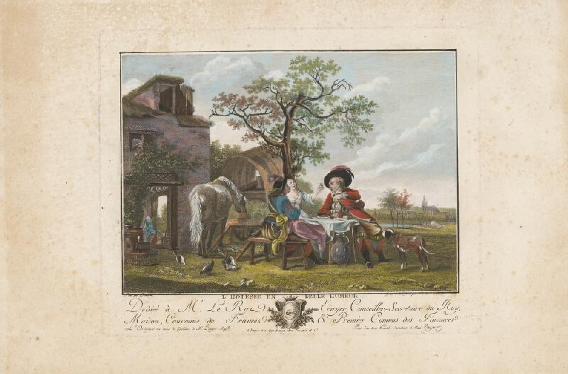 Pierre Michon, Jean Louis Demarne, Jean-Baptiste Racine - Spoločnosť pri stole