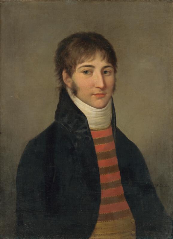 Ján Jakub Stunder - Podobizeň mladého muža v bielom šálovom límci