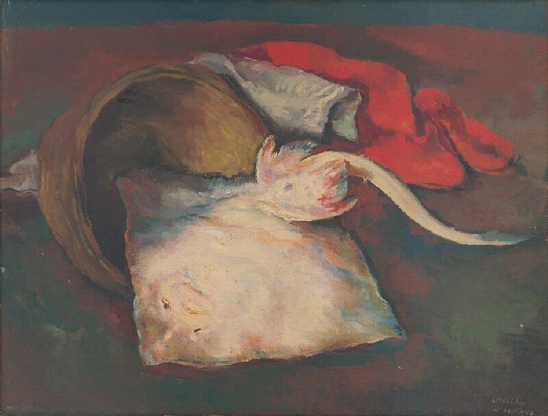 Vojtech Erdélyi - Zátišie s rybou