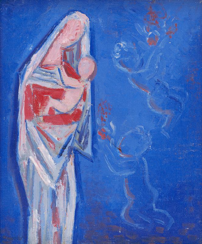 Mikuláš Galanda - Stojaca Madona s anjelikmi