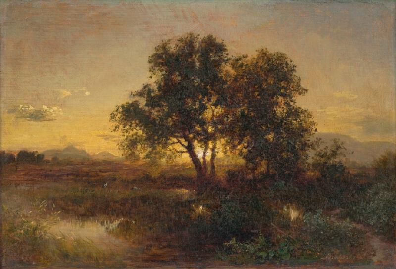 Alexander Brodszky - Podvečerná krajina