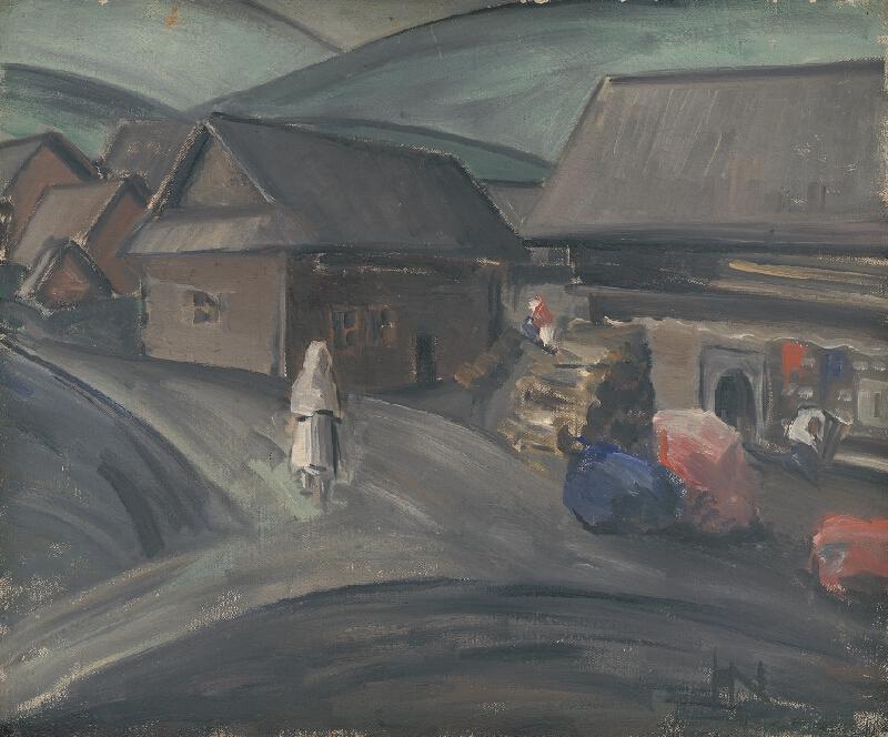 Francúzska maliarka z 20. storočia - Na slovenskej dedine