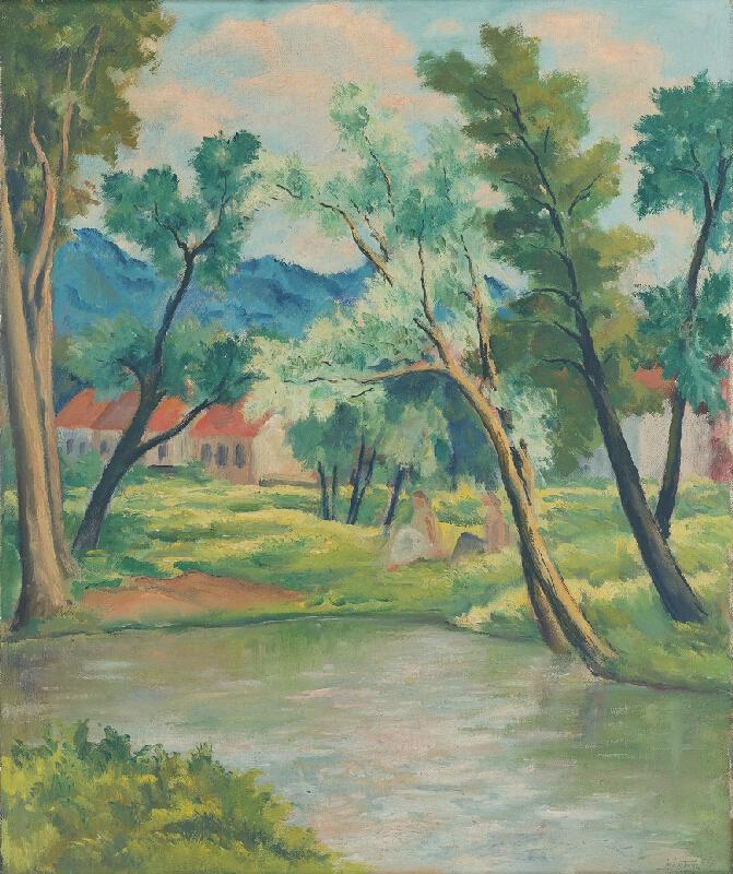 Eugen Lehotský - Krajina s riekou