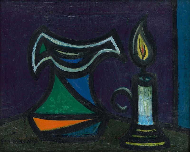 Ladislav Guderna - Zátišie so sviečkou