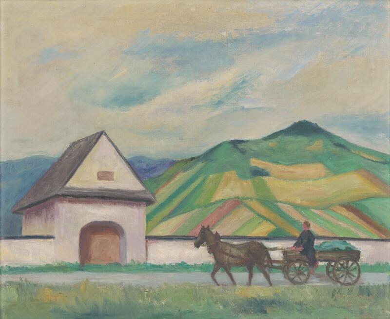 Oľga Hoffstädterová - Krajina z Veličnej