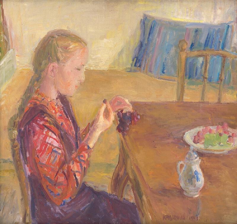 Viera Kraicová - Dievča s hroznom