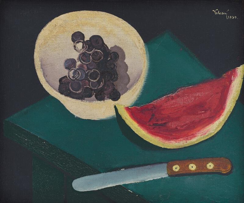 Václav Vrbský - Zátišie s melónom