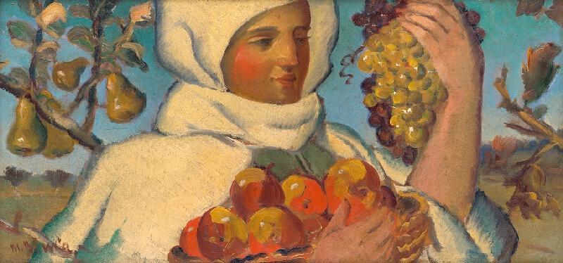 Martin Benka - Žena s ovocím
