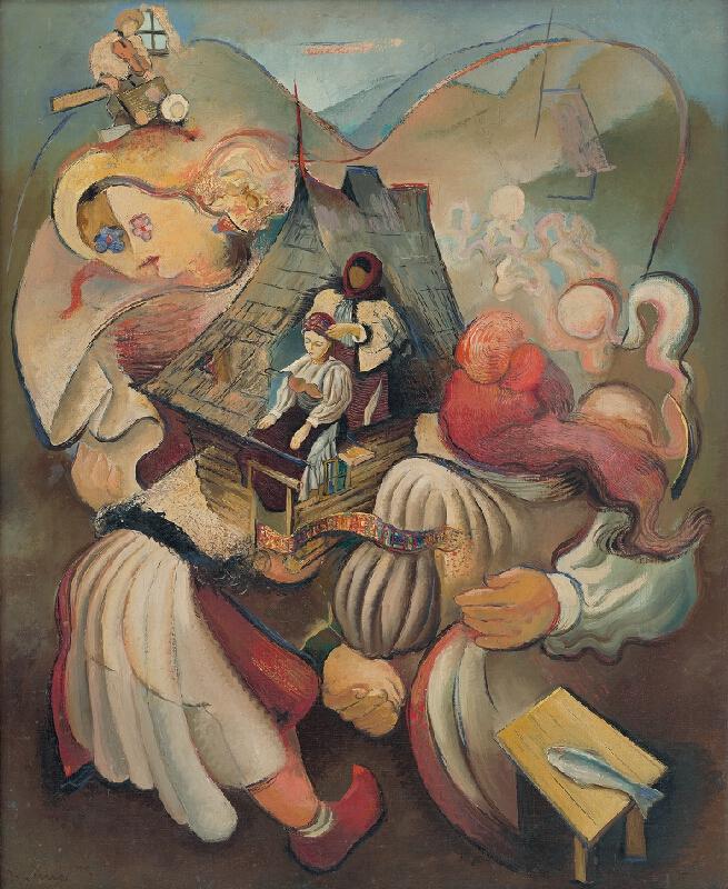 Imrich Weiner-Kráľ – Čepčenie na Rachovsku, 1935, Slovenská národná galéria
