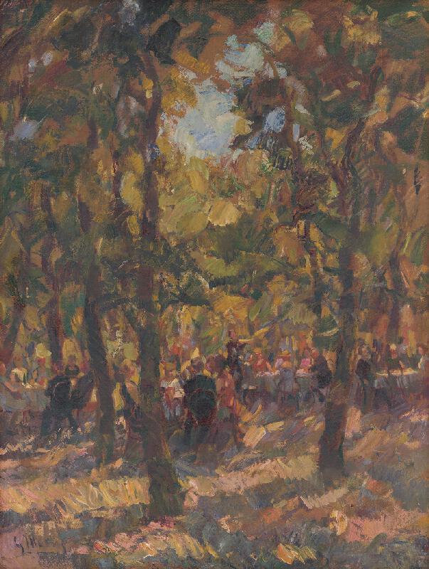 Gustáv Mallý - Pod stromami