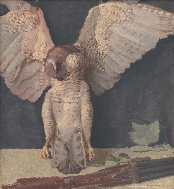 Július Koreszka - Zátišie so sovou
