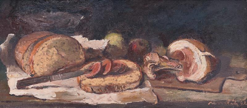 Július Nemčík - Zátišie so šunkou