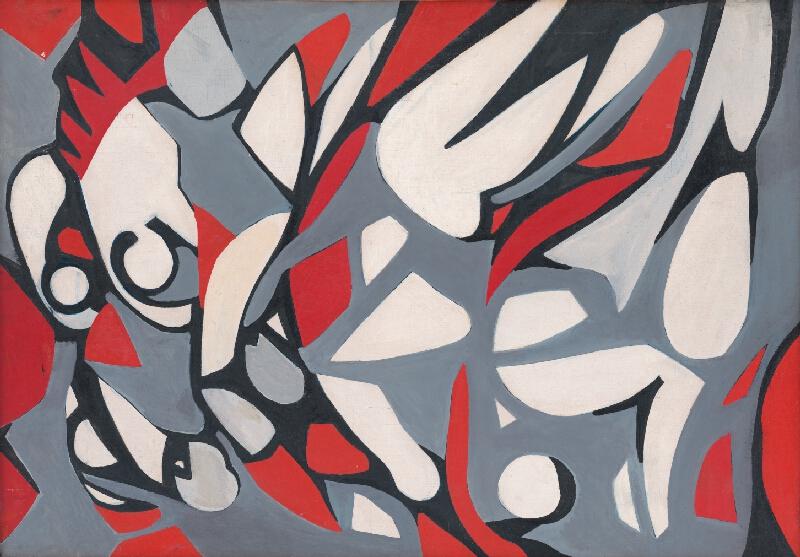 Guilio Turcato - Abstraktný obraz