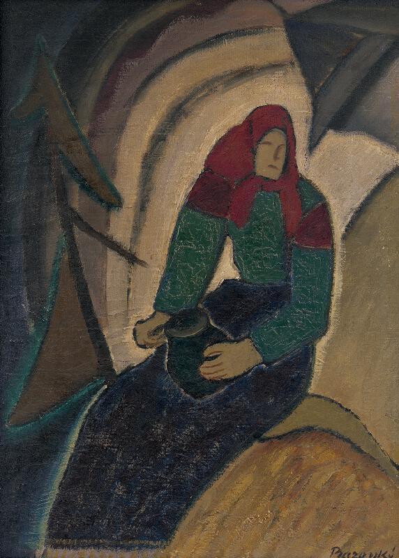 Miloš Alexander Bazovský - Sediaca žena