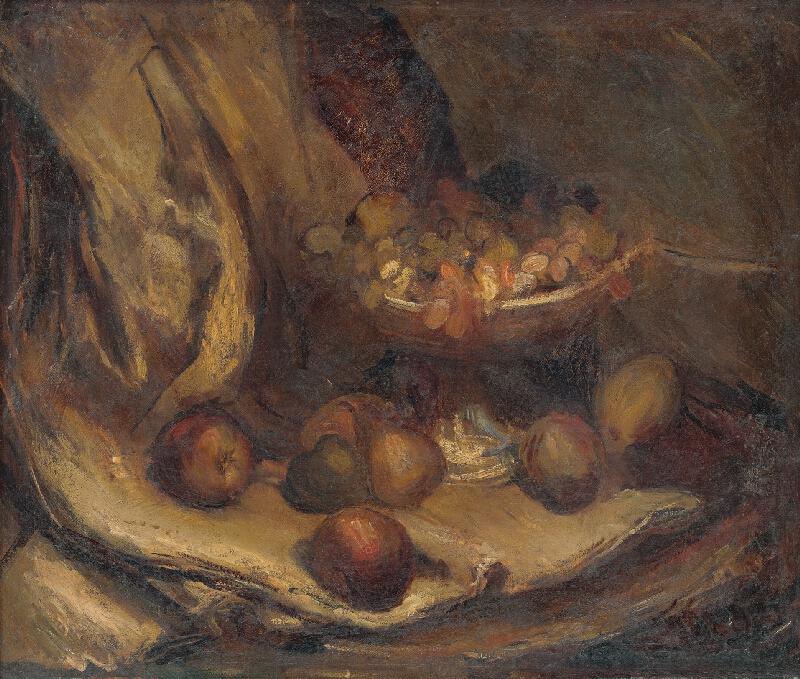 Vladimír Droppa - Zátišie s ovocím