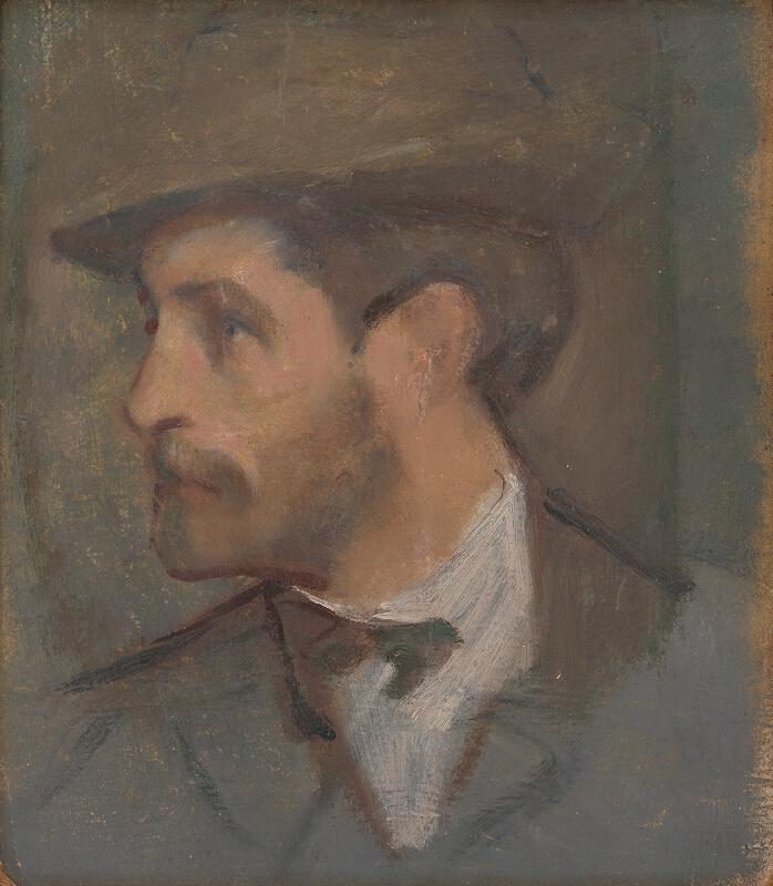 Milan Thomka Mitrovský - Autoportrét - malý