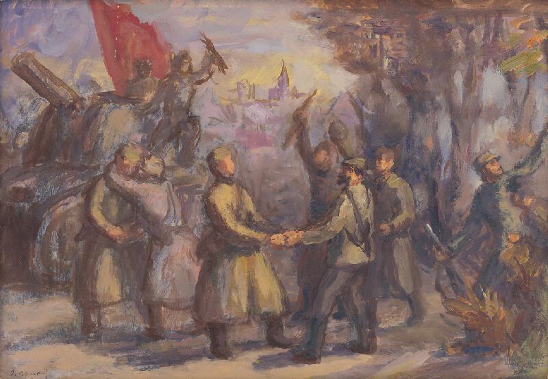 Jozef Bendík - Stretnutie partizánov so sovietskou armádou