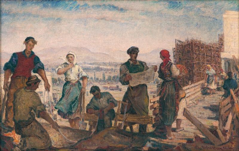 Martin Benka - Štúdia k obrazu Minulosť a súčasnosť