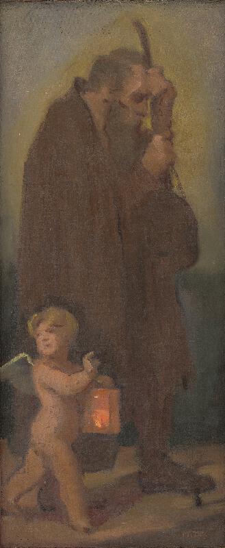 Milan Thomka Mitrovský - Štúdia pútnikov s anjelikom strážnym - Ahasver