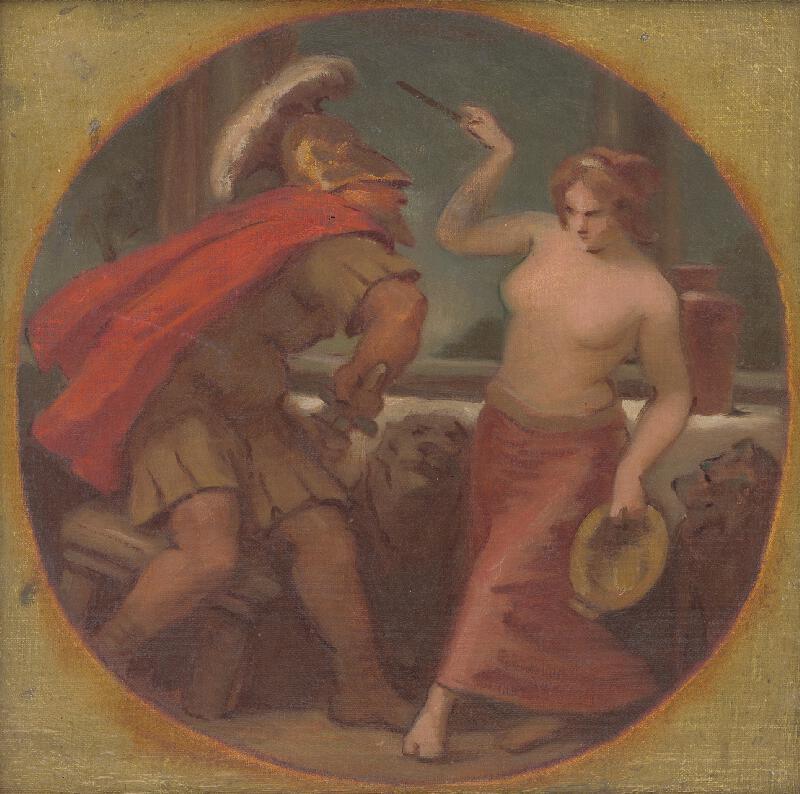 Milan Thomka Mitrovský - Kruhová štúdia kompozície z rímskych dejín