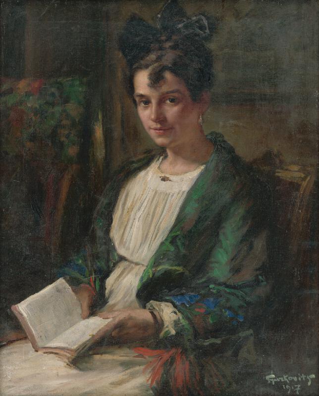František Gyurkovits - Čítajúce dievča